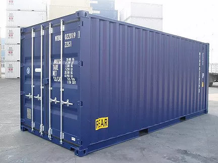 Shipping Container in RAL 5013 Colour