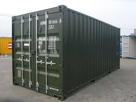 Shipping Container in RAL 6007 Colour